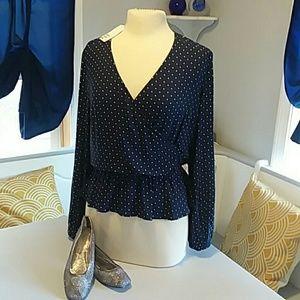 ☆💋NWT H&M peplum heart blouse